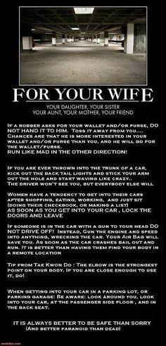 Stay safe!    www.SassySafetyForWomen.com