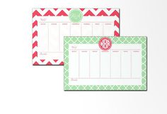 Personalized Weekly Desk Planner 53 Pages by LoveyDoveyCreations