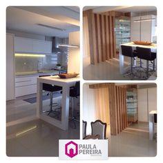 Projeto Cozinha #paulapereiraarquitetura #projetodeinteriores #cristaleira #vidro #cozinhaintegrada #interiores #artemag #perfilmóveis
