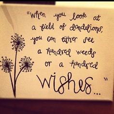 Hundred weeds or a hundred wishes!