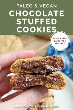 Dairy Free Eggs, Dairy Free Recipes, Real Food Recipes, Cookie Recipes, Paleo Recipes, Kitchen Recipes, Chocolate Filling, Paleo Chocolate, Chocolate Recipes