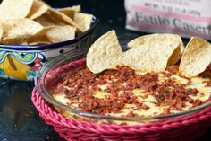 Queso Fundido/this brings back a lot of memories when I was growing up in Southwest Texas in a border town.