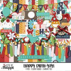 Happy BirthYAY Digital Scrapbooking Kit From: Little Bit Shoppe