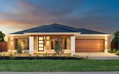 The Byron Home - could work with a few minor tweaks Small House Floor Plans, Barn House Plans, New House Plans, Modern Small House Design, Contemporary House Plans, Village House Design, House Front Design, Modern Bungalow House, Bungalow House Plans