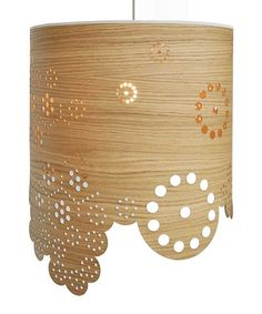 These modern lamp shade drums with flower and leaf pattern detailing are a great way to add a Nordic style softness to your lighting and decor scheme. They are...
