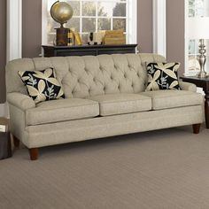 Have to have it. Charles Schneider Fischer Linen Sofa with Precious Ebony Pillows $1249.99
