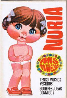 Dolls to cut: My dolls Bruguera Vintage Art Prints, Vintage Posters, Vintage Paper Dolls, Vintage Paris, Paper Toys, Pulp Fiction, Childhood Memories, Smurfs, Little Girls