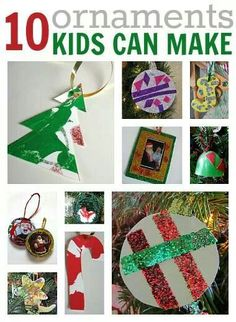 Ornament kids can make.  Christmas crafts.