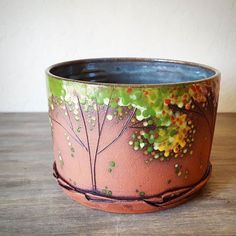 Seedling Clay Works is a one woman business that has grown wildly popular among cowgirls. Samirah Steinmeyer, the successful mastermind who. Ceramic Tableware, Ceramic Plates, Ceramic Art, Pottery Plates, Ceramic Pottery, Ceramics Projects, Elegant Flowers, Autumn Art, Pottery Studio