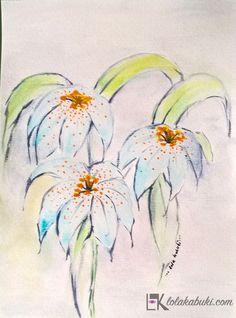 FLORES DISUELTAS 2 #flores, #acuarela, #arte