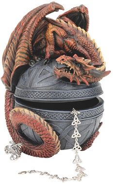 Dragon Protector of the Celtic Orb Sculptural Box
