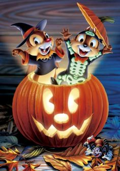 Chip and Dale Halloween Cross Stitch Pattern PDF Files More # Halloween Cartoons, Halloween Chat Noir, Halloween Quotes, Halloween Images, Holidays Halloween, Scary Halloween, Vintage Halloween, Halloween Crafts, Disney Holidays