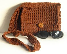 Crocheted Bag Purse Shoulder Strap Crocheted by Handmadebyvaly