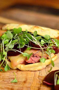 Corned Beef Swiss Naan Sandwich