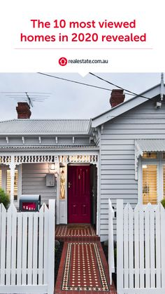 Lifestyle the new X factor in list of 10 most viewed homes in 2020 #FrontPorch #Facade #GreyHouse #Weatherboards #RedDoor #Terracehome #HouseInspo #HouseDesign #HouseInspiration #VictorianHome #Letterbox House Windows, Facade House, House Exteriors, Exterior Door Colors, House Paint Exterior, Victorian Style Homes, Edwardian House, Weatherboard House, Pebble Mosaic
