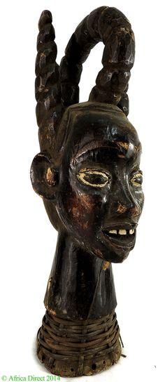 Ejagham (Ekoi) Head Crest Leopard Society Nigeria Africa - Cross River & Niger River Delta - African Masks