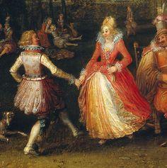 De buitenpartij, detail David Vinckboons 1610 Rijksmuseum, Amsterdam High Society, Dance Art, Dance Music, Dance Project, Theatre Design, Fred Astaire, Masquerade Ball, Love Art, Fancy Dress