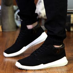 Spring 2016 men's casual sports shoes tide male Korean version of the trend of young students jogging shoes shoes Peas - Shadmart.com