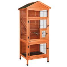 TRIXIE Aviary Large Wooden Bird House is ideal for multiple small birds such as parakeets and finches. Convenient to maintain. Harley Quinn, Flight Cage, Metal Lattice, Wooden Bird Houses, Bird House Kits, Bird Aviary, Parakeets, Parrots, Bird Cages