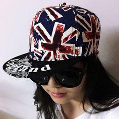 I, Unisex England UK Flag Baseball Cap Adjustable Snapback Sunshade Hip Hop Hat