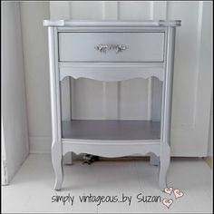 Silver Metallic End Tables Makeover