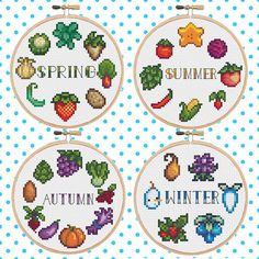 Stardew Valley Seasons Bundle Cross Stitch Pattern by LilEggy