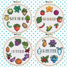 Stardew Valley Seasons Bundle Cross Stitch Pattern by LilEggy
