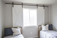 This barn door window treatment plays off the current barn door trend in home decor. Kristen Whitby of Ella Claire Inspired came up with this cute idea for her boys' bedroom, but it could work in any number of rooms where you'd like to add some character and privacy. Follow along as Kristen shows how she created …