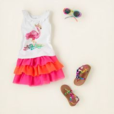baby girl - outfits - ruffle stuff - flamingo fun | Childrens Clothing | Kids Clothes | The Childrens Place
