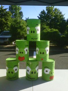 I made these for a carnival at school, they were a hit... Prolly should use EMPTY cans though ;)