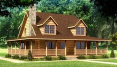 Beaufort Log Home Plan by Southland Log Homes