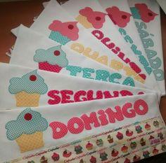 Semaninha cupcakes, por uma cozinha mais colorida!!! Semaninha / Panos de prato / Cupcakes / Cozinha / Kitchen / Decor