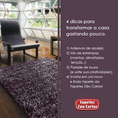Coleção Tango, cor Bordô. #decoracao #makeover #mudancas #tapetessaocarlos