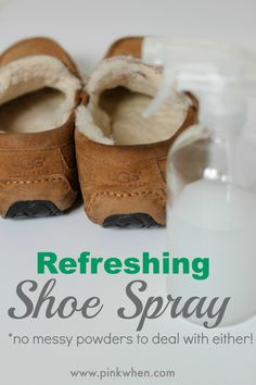 Remove those smells and refresh your shoes with this shoe spray. No messy powders needed!