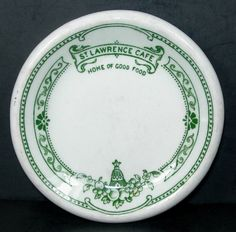 St. Lawrence Cafe - Montreal -1920's Beautiful Top Marked Hotel China Butter Pat