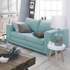 Ich mag den blassen Farbton und die Form des Sofas  Schlafsofa im Impressionen Online Shop