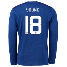 Manchester United 16-17 Ashley #Young 18 Udebanesæt Lange ærmer,245,14KR,shirtshopservice@gmail.com
