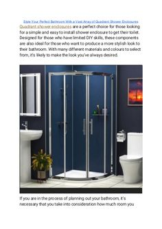 """""""Quadrant Shower Enclosures"""" published by """"showerenclosure"""" on @edocr Bathroom Shower Enclosures, Quadrant Shower Enclosures, Soap Dispensers, Rain Shower, Shower Heads, Decor Styles, Things To Come, Home Decor, Showers"""