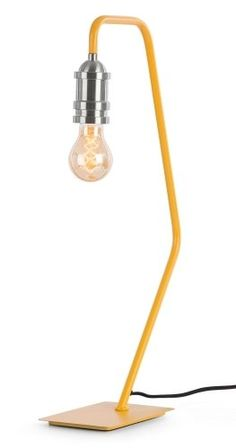 The Starkey Table Lamp in Mustard and Nickel. Slender, sleek and stylish. £45 | MADE.COM