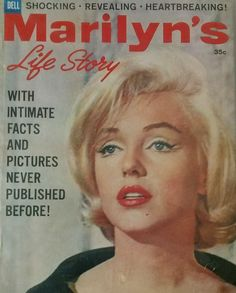 """Marilyn's Life Story"" - 1962, magazine from USA. Commemorative magazine published after Marilyn Monroe's death. Front cover photo of Marilyn on the set of ""Let's Make Love"", 1960."