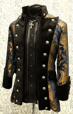 VERSAILLES COAT - BLUE /GOLD TAPESTRY