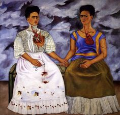 The Two Fridas.  One of my favorite paintings and definitely my favorite of Frida  Kahlo.  I studied this painting in Art History my senior year of college, thought I may never actually see it, then came across it on a trip to NY a few months later while on tour at the MOMA.  I didn't realize it was so huge, it was nearly six feet high.