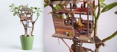 Tiny Tree Houses For Houseplants That'll Delight Your Inner Child