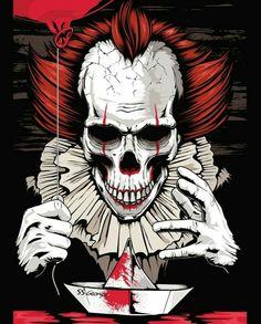 Pennywise in It Gruseliger Clown, Creepy Clown, Scary, Es Pennywise, Pennywise The Dancing Clown, Arte Horror, Horror Art, Der Joker, Geeks