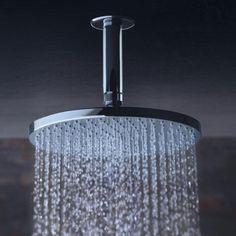 Philippe Starck, Axor Starck, Jet, Plumbing Fixtures, Plumbing Pipe, Large Shower, Chrome Plating, Polished Chrome, Home