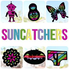 eighteen25: [arts & crafts] suncatchers - much easier to use my Silhouette machine for these!!