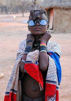 Himba girl in Namibia.
