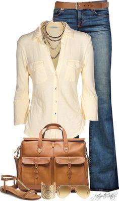 sheer silk top & jeans