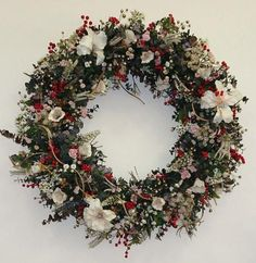Christmas Holiday Wreath   Home Decor Blog Forever New Furniture  Refinishing NJ