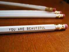 personalized pencils on my desk, love this idea, aswell perfect for a lovely gift